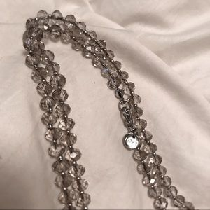NWOT LOFT extra long crystal necklace